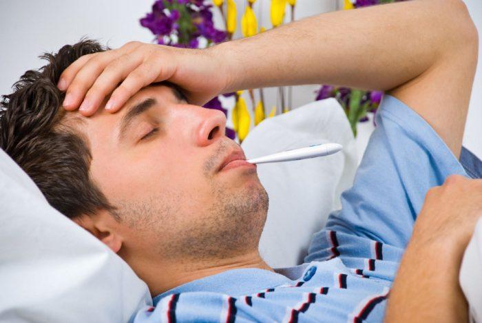 простудное заболевание с высокой температурой