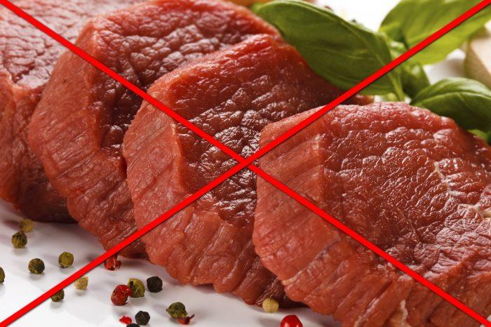 полностью исключить красное мясо