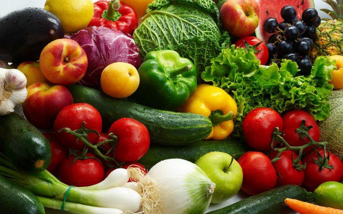 как можно больше овощей, фруктов в свежем виде