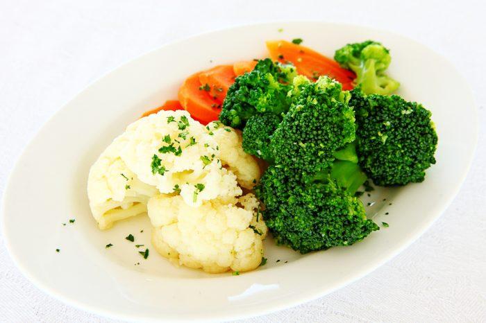 гарниры из вареных, паровых овощей