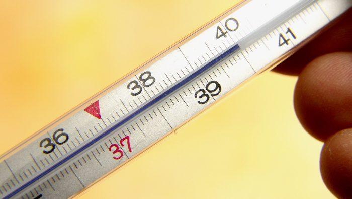 повышение температуры в пределах 39-40 градусов