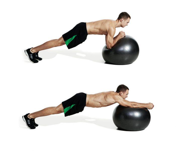 гимнастика с фитболом