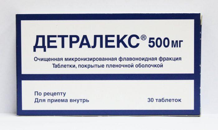 Состав и инструкция по применению Детралекса при лечении простатита
