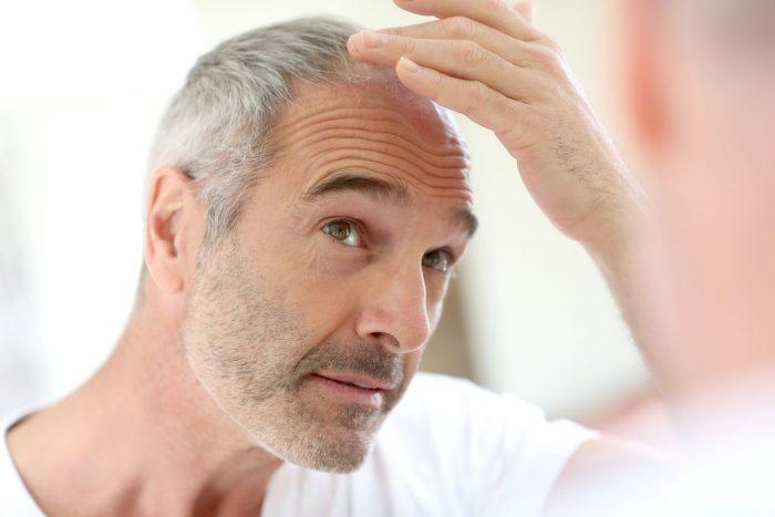 седые волосы у мужчин