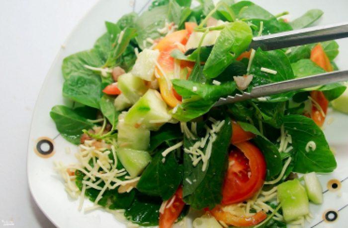 рецепты салатов со шпинатом