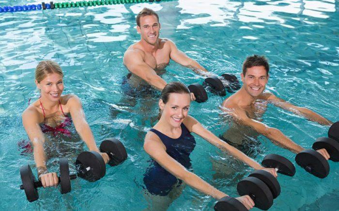 силовые упражнения в воде