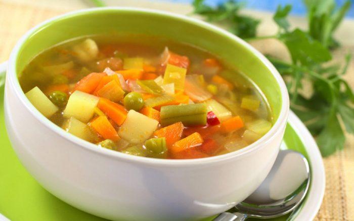 вегетарианский суп на основе овощей