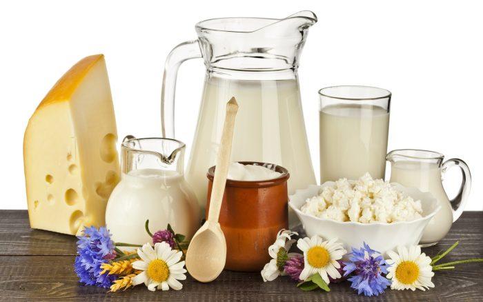кисломолочные продукты и молоко