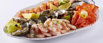 морские продукты
