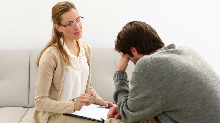 посещение психотерапевта